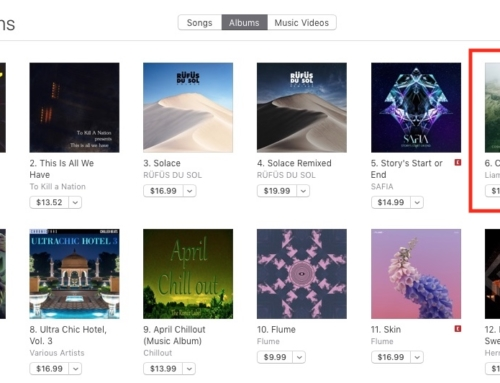 Cosmos in the iTunes Charts in Australia